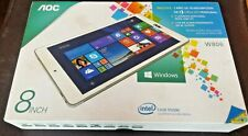 White aoc tablet with windows operating system