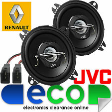 "RENAULT Kangoo mk2 Van JVC 10cm 4"" 420 Watt Anteriore Dash Altoparlanti Auto & Connettore"