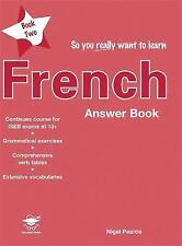 So You Really Want to Learn French Book 2 Answer Book, Very Good Condition Book,