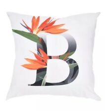 Letter B Cushion Cover Bird Of Paradise