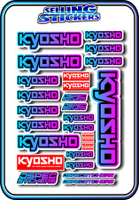 KYOSHO MODEL RC CAR DRONE BOAT BUGGY MINI Z STICKERS DECALS ROBOT R/C BLU/PNK B