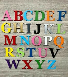 Georgia Bold Wooden Letters & Numbers 3mmThick BIRCH Alphabet Letters & Numbers