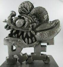 vintage rare rat fink head ed roth motorcycle ratrod hotrod car hood ornament