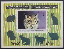 Ajman 1973 ** Bl.360 Tiere animals Raubkatzen big cats Ozelot