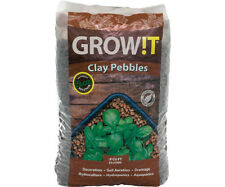 Hydrofarm GROW!T Horticultural 100% Natural Clay Pebbles, 25-Liter Bag | GMC25L