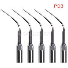 5pcs Dental Perio Tips PD3 Inserts fit DTE Satelec Ultrasonic Scaler Handpieces