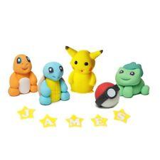 POKEMON GO cake topper pikachu PERSONALISED EDIBLE figures decoration