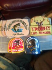 10 North American Hunting & Fishing Club Life Member-Official Member Cloth Patch