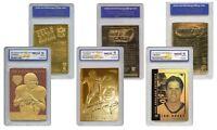TOM BRADY Patriots Genuine 23KT NFL Gold Cards - Graded Gem-Mint 10 - SET OF 3