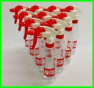 Autoglym 10 x Calibrated Trigger Spray Bottles 500ml + Canyon Triggers Valeting