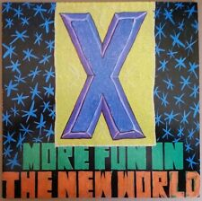 1983 ROCK - X - MORE FUN IN THE NEW WORLD - LP WITH INNER - USA ELEKTRA 60283 EX