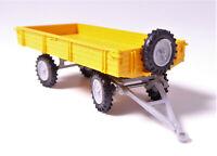 H0 Mehlhose Anhänger T 4 Pritsche Reserverad sichtbare Beplankung gelb # 102
