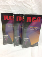 Sealed Blank VHS Video Tapes Cassettes Lot Of 3 T-120 Hi Fi Stereo 079000100027