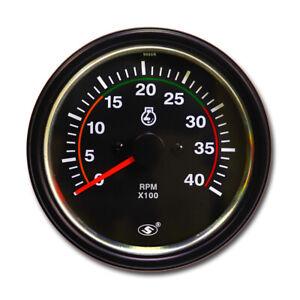 "Universal Diesel Tachometer for Alternator W Terminal 3-3/8"" 4000 RPM"