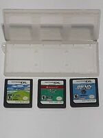 Lot of 3 Nintendo DS Games w/Game Case.