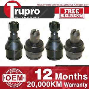 4 Pcs Trupro Lower+upper Ball Joints for FORD COMMERCIAL F250 4WD F350 2WD