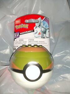 Pokémon Mega Construx Series 12 Nidoran in Nest Ball - NEW/Sealed