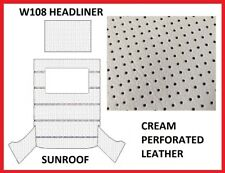 Mercedes Benz W108 Roof Ceiling Sky Headliner Cream Perforated Leather +Sunroof