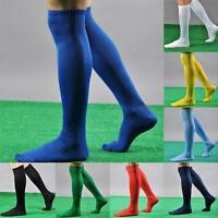 New Mens Boys Sports Football Soccer Plain Long Socks Cotton Over Knee High Sock