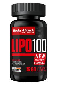 Body Attack LIPO 100 - 60 Caps - Vitamin-B-Komplex Aminosäuren