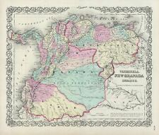 1856 Colton Map of Columbia, Venezuela and Ecuador