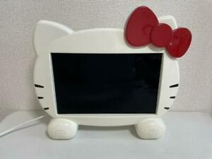 """Hello Kitty 13.3"""" LCD TV DY-133KT Television Working Tested AC100V Sanrio Tested"""