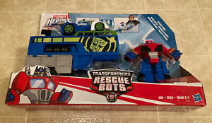 Hasbro Playskool Heroes Transformers Rescue Bots Optimus Prime Racing w/Blurr