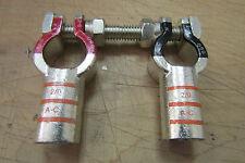 2 Top Post 2/0 Gauge Positive&Negative Battery Terminal With Shoulder Nuts.4.5.