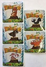 15 Woodland Forest Friends  Animal Stickers Party Favors Teacher Supply