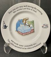 """PETER RABBIT bed-time Wedgwood of Etruria & Barlaston 6 3/4""""Plate"""