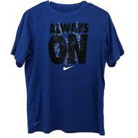 Nike Dri-Fit Boys Size XL Blue & Black Basketball Athletic T-shirt Short Sleeve