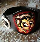"""Stray Cats"" Rockabilly Hand-Tooled Wide Leather Biker Belt - (L) - Never Worn!"