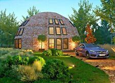 Moon House 40 Diam Dome 1710 Sqft Strut Framing Kit Wood Prefab Diy Home Diy