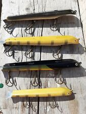 LOT OF 4 SUICK THRILLER MUSKY PIKE MUSKIE JERKBAIT LURE 7 TO 9 INCH