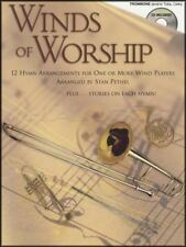 Winds of Worship for Trombone Tuba or Cello Sheet Music Book with CD