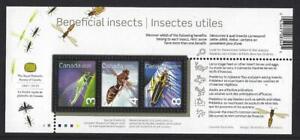 Canada 2012 Bénéfiques Insectes Miniature Feuille non Montés Excellent État