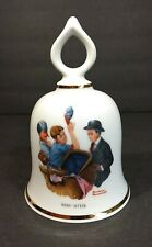 """Vintage Danbury Mint 1979 Limited Edition Norman Rockwell Bell """"Baby-Sitter"""""""