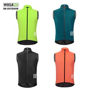 Cycling Reflective Wind Vest Sleeveless Jersey MTB Bike Gilet Outdoor Sports