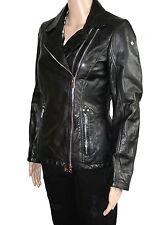 Milestone Damen Leder Jacke Lederjacke schwarz Gr. 38