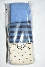 BRAND NEW GIRL'S NEXT TIGHTS 5-6 Yrs 3 PAIRS NEXT DAY POST