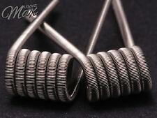 Fused Clapton coil, 2/24g + 36g ka1 5/6 wraps 3mm 0,28 single 0,14 dual