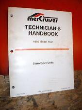 1995 MERCRUISER STERN DRIVE UNITS TECHNICIAN'S HANDBOOK SPECIFICATION MANUAL