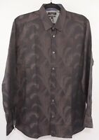 TED BAKER Men's Brown Patterned Shirt, Modern Fit, size collar 16""