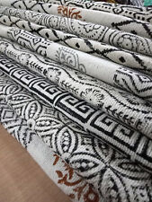 Large Hand Block Print Cotton Throws Mudcloth Textiles Rustic Handmade Fabrics