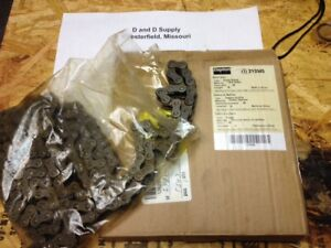 DAYTON 2YDW5, Carbon Steel Roller Chain, Riveted, 40 ANSI,10 ft, New-Old-Stock