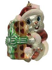 Fluffy'S Gift Radko White Bunny Rabbit Ornament