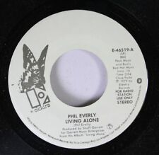 Pop Nm! Promo 45 Phil Everly - Living Alone / Living Alone On Elektra