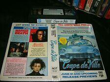 Vhs *COUPE DE VILLE* Mega Rare (Not For Sale) Exclusive Dealer Only - PAL Issue!