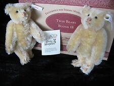 Steiff Blond Twin Bears- Replica- Strong Museum Limited Ed/Box- Mohair 1998 NIP