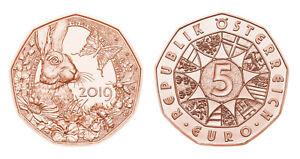 #RM# 5 EURO COMMEMORATIVE AUTRICHE 2019 - BUNNY